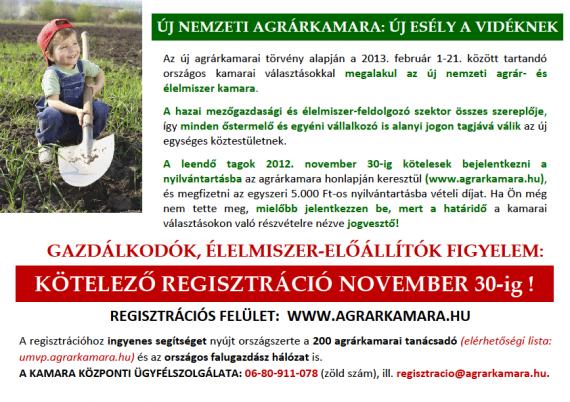 Agrárkamara regisztráció