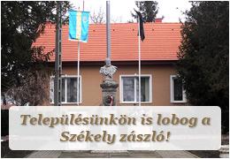 Településünkön is lobog a Székely zászló!